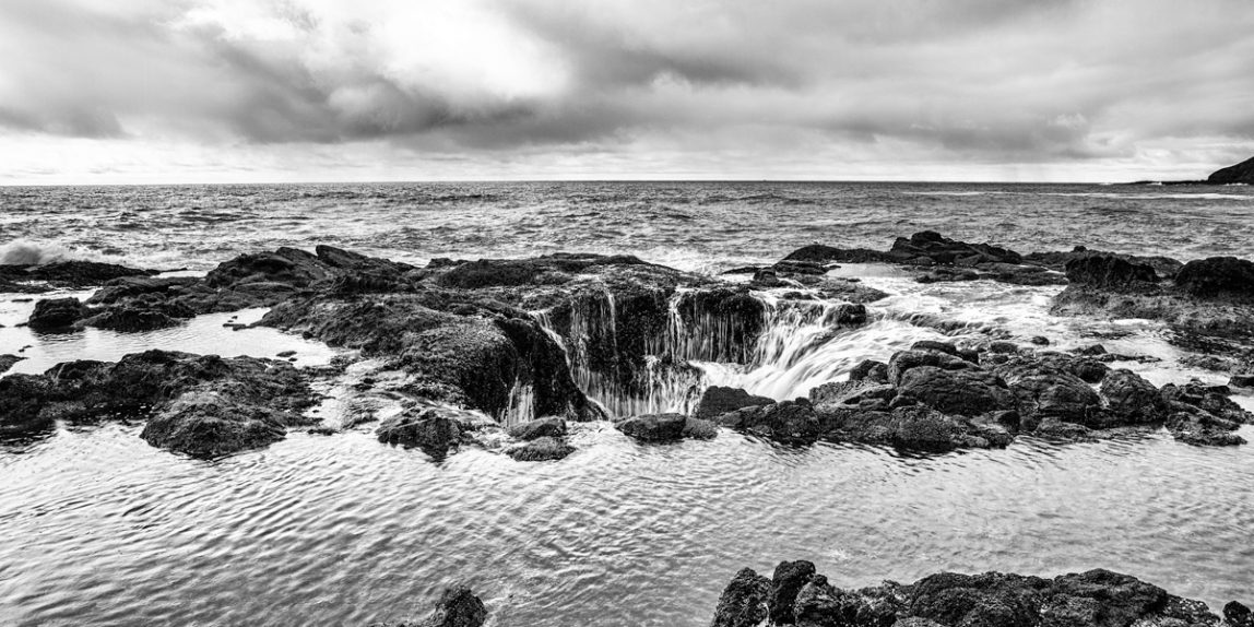 "First Place winner, Sorensen's Studio 6th Annual Black and White Show, ""Thor's Well"""