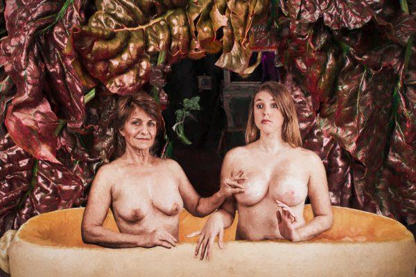Gabrielle d'Estrées and her Sister done as a surreal photo